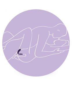 Sexøeketøy for par. Illustrasjon av parvibrator.